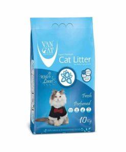 خاک گربه با خاصیت جمع شوندگی بالا، با رایحه طبیعت، ۱۰ کیلوگرمی، برند وَن کت