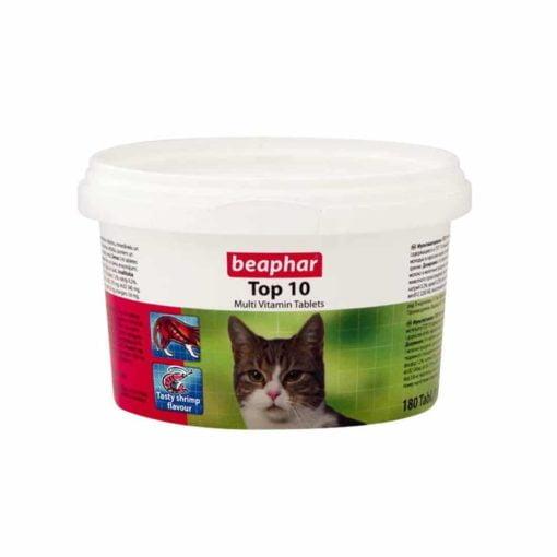 قرص مولتی ویتامین گربه، مدل تاپ 10، 180 عددی، برند بیفار