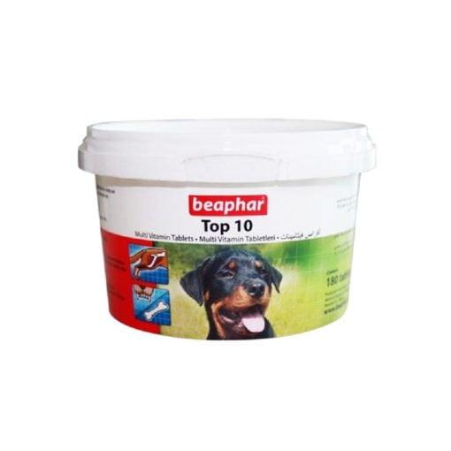 قرص مولتی ویتامین سگ، مدل تاپ 10، 180 عددی، برند بیفار