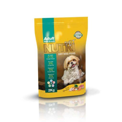 غذای خشک سگ بالغ، نژاد کوچک، 2 کیلوگرمی، برند نوتری پت
