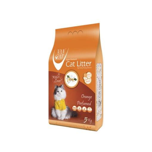 خاک گربه، با رایحه پرتقال، 5 کیلوگرمی، برند ون کت