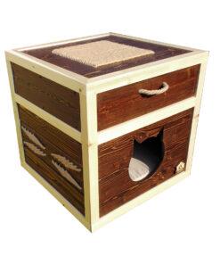 خانه گربه، چند کاره، طرح مکعب، مخصوص گربه، برند خانه های لوکس حیوانات 1