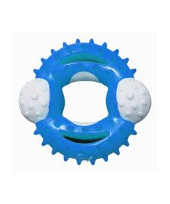 اسباب بازی دندانی لاتکسی گرد، مخصوص سگ، برند دارلینگ پت، آبی