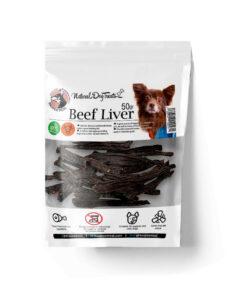 تشویقی جگر سیاه گوساله، مخصوص سگ، 50 گرمی، برند هاپومیل