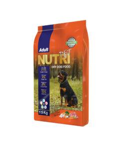 غذای خشک سگ بالغ با ٪۲۱ پروتئین، 15 کیلوگرمی، برند نوتری پت