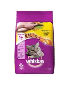 غذای خشک گربه بالغ، حاوی گوشت مرغ، 1.2 کیلوگرمی، برند ویسکاس