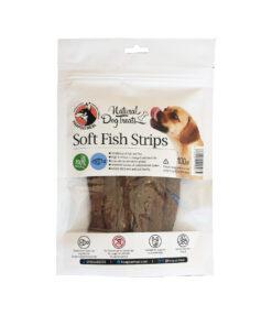 تشویقی استریپ نرم ماهی کیلکا، مخصوص سگ، 100 گرمی، برند هاپومیل