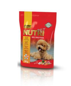 غذای خشک توله سگ، نژاد کوچک، 2 کیلوگرمی، برند نوتری پت