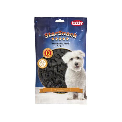 تشویقی مخصوص سگ، طرح استخوان کوچک، با طعم سیرابی، 200 گرمی، برند نوبی