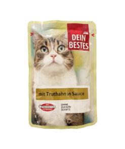 سوپ مخصوص گربه، حاوی بوقلمون در سس، ۱۰۰ گرمی، برند دین بستس