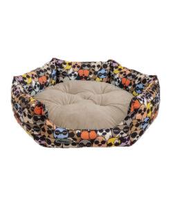جای خواب شش ضلعی، مناسب سگ و گربه، سایز 1، VIP، برند نیناپت، عینک دودی، طوسی