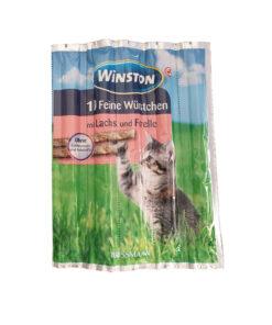 تشویقی مدادی گربه، ماهی سالمون و قزل آلا، 5 عددی، برند وینستون