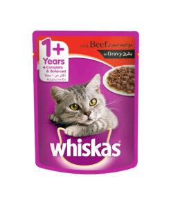 سوپ مخصوص گربه بالغ، حاوی گوشت گوساله، 85 گرمی، برند ویسکاس