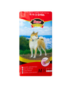 پوشک مخصوص سگ، سایز متوسط، 12 عددی، برند دونو
