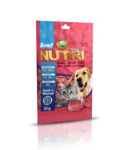 تشویقی فریز دراید، مخصوص سگ و گربه، گوشت گوساله، 35 گرمی، برند نوتری پت