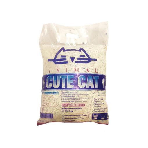 خاک گربه، با خاصیت جمع شوندگی، دانه رنگی، 10 کیلوگرمی، برند کیوت کت