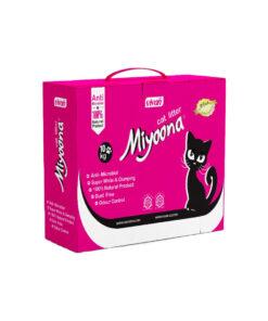 خاک گربه، با رایحه پودر بچه، جعبه ای، 10 کیلوگرمی، برند میونا