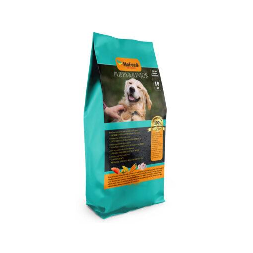 غذای خشک توله سگ و سگ جوان، 10 کیلوگرمی، برند مفید