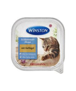 غذای کاسه ای، مخصوص گربه، حاوی گوشت مرغ، 100 گرمی، برند وینستون