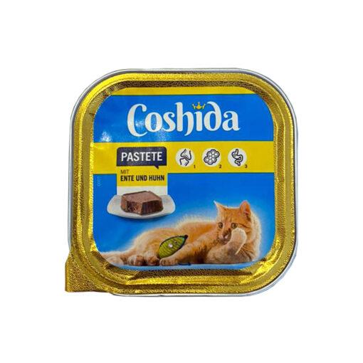 غذای کاسه ای، مخصوص گربه، حاوی اردک و مرغ، پاته، 100 گرمی، برند کوشیدا