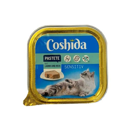 غذای کاسه ای، مخصوص گربه، حاوی بره و برنج، پاته، 100 گرمی، برند کوشیدا