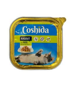 غذای کاسه ای، مخصوص گربه، حاوی بوقلمون، تکه ای، 100 گرمی، برند کوشیدا