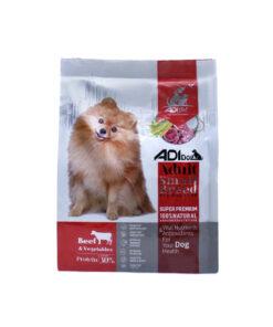 غذای خشک سگ بالغ نژاد کوچک، گوشت گوساله و سبزیجات، برند ادی داگ
