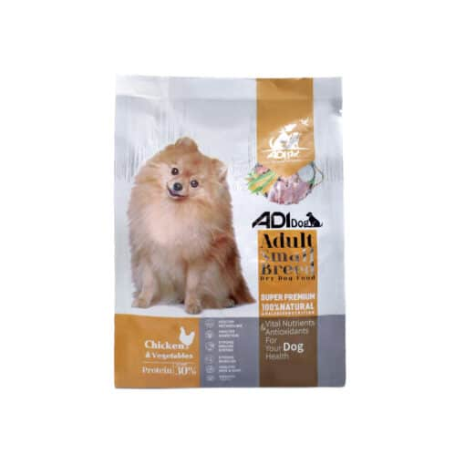 غذای خشک سگ بالغ نژاد کوچک، مرغ و سبزیجات، برند ادی داگ