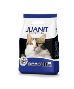 خاک توالت گربه، پریمیوم، بدون رایحه، 10 کیلوگرمی، برند ژوانیت