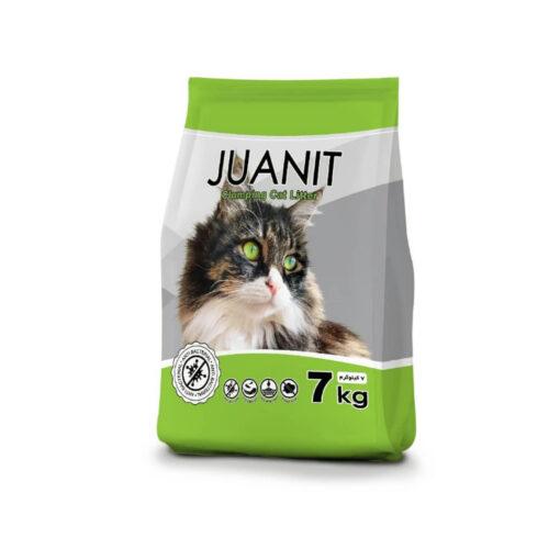 خاک توالت گربه، خاصیت جمع شوندگی، رایحه کاج، 7 کیلوگرمی، برند ژوانیت