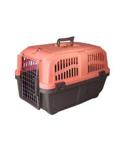باکس حمل حیوانات، مدل پانیتو، سایز 3،درب فلزی، برند هپی پت، نارنجی