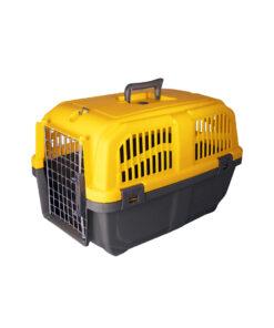 باکس حمل حیوانات، مدل پانیتو، سایز 3،درب فلزی، برند هپی پت، زرد