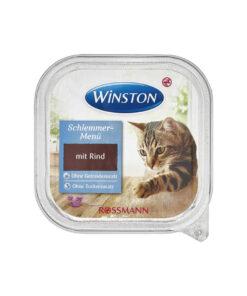 غذای کاسه ای، مخصوص گربه، حاوی گوشت گوساله، 100 گرمی، برند وینستون