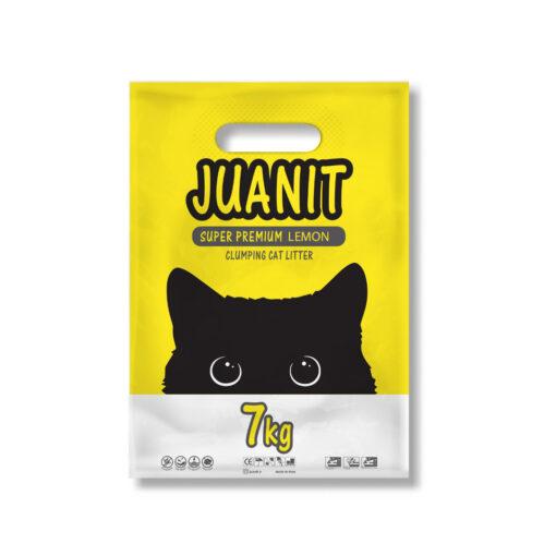خاک توالت گربه، سوپر پریمیوم، رایحه لیمو، 7 کیلوگرمی، ژوانیت