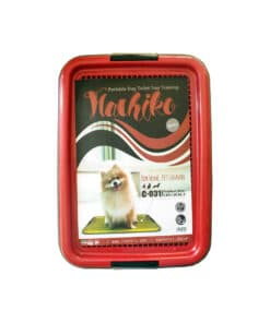 توالت مسطح سگ، مدل هاچیکو، سایز کوچک، برند هپی پت، قرمز تیره